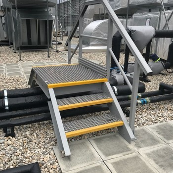 Grp anti slip rooftop access
