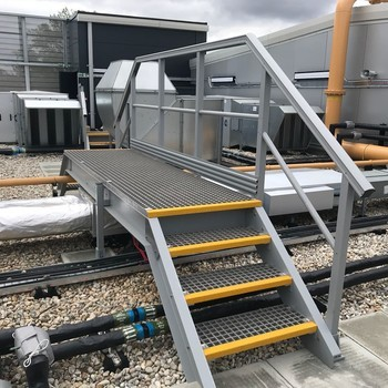 Grp anti slip rooftop access solutions