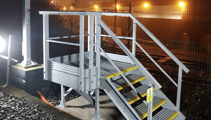 Step on safety rail solution
